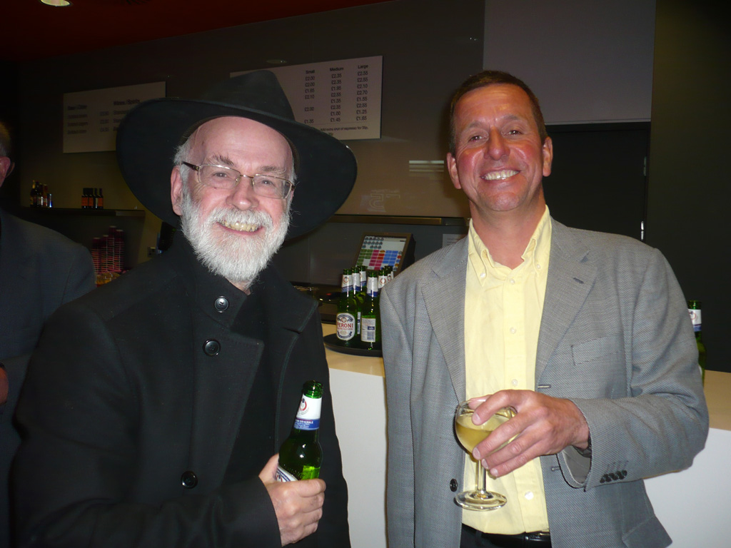 With Sir Terry Pratchett