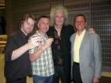 With Damian Peach, Jamie Cooper and, oh yes, Brian May